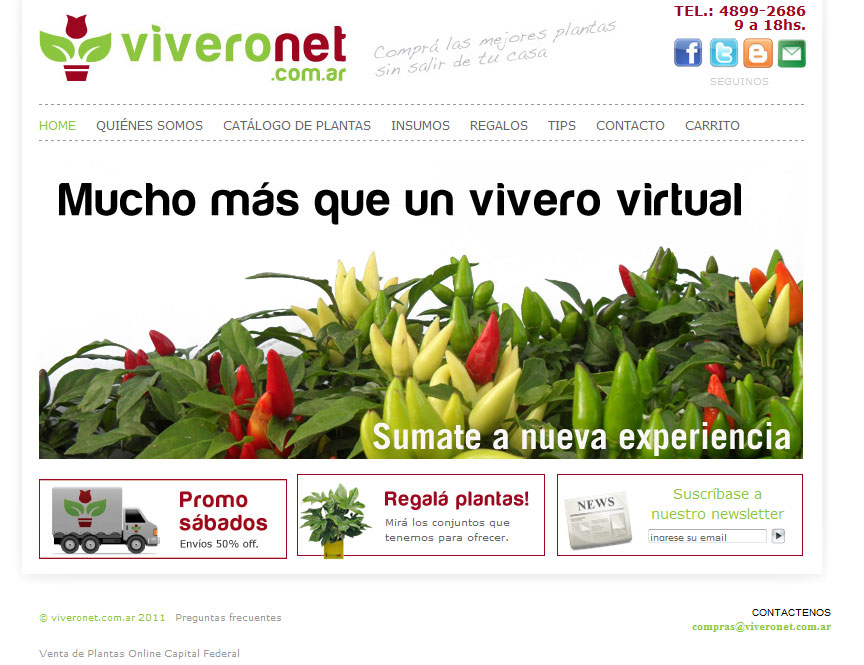 Viveronet for Vivero plantas online